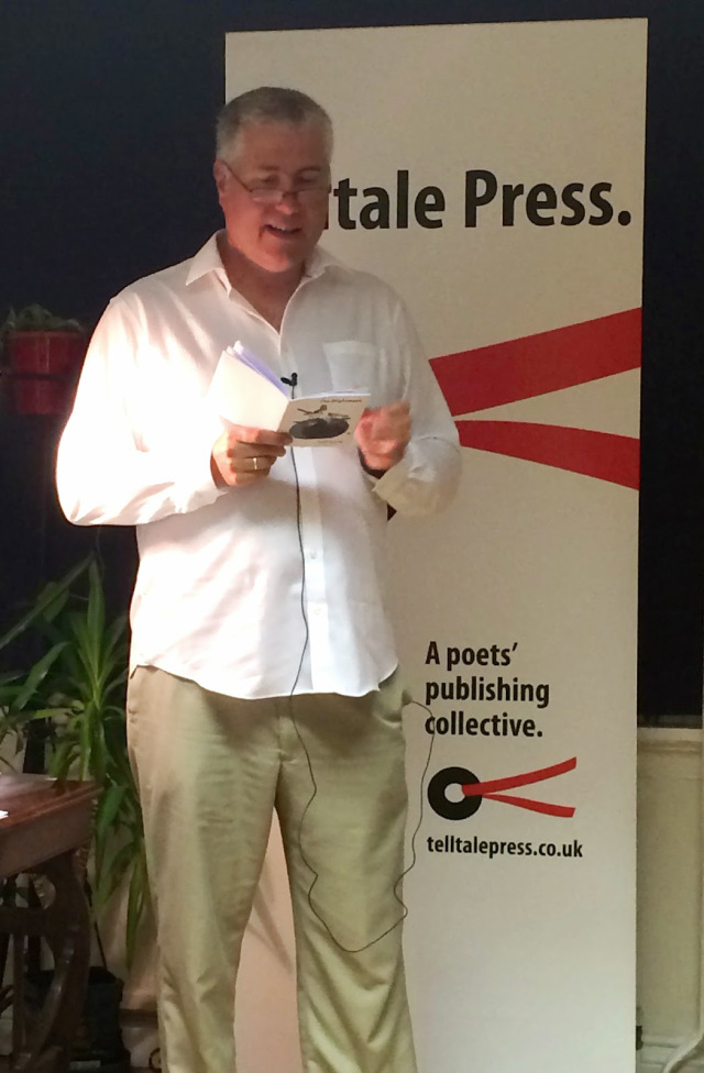 Peter Kenny reading at the Lewes launch of Telltale Press