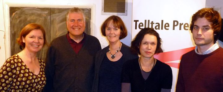 Readers at the Telltale Press event, Poetry Cafe, 7th Jan 2015