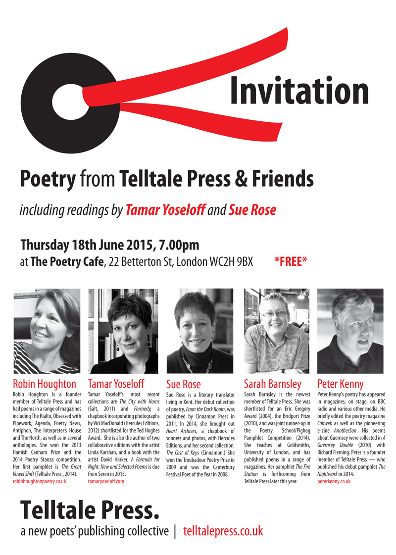 Telltale & Friends, reading at the Poetry Cafe June 2015