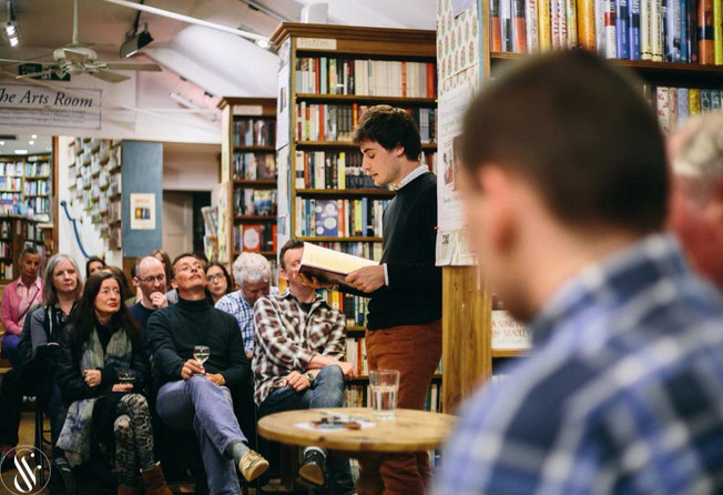 Siegfried Baber,  Toppings Bookshop May 2015 photo by Dot & Lucy Photography
