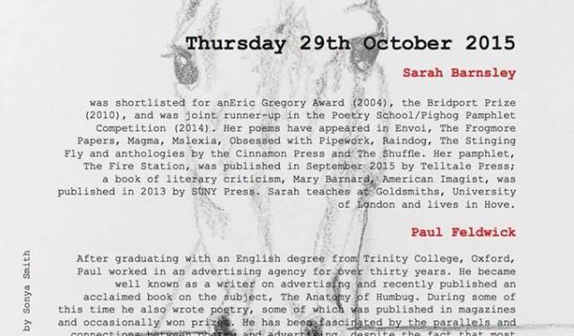Sarah Barnsley reading at Red Roaster