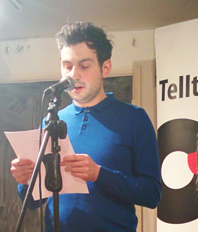 Jack Underwood reading at Telltale Press & Friends, Poetry Cafe, London, January 2016