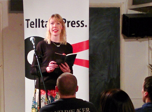 Kitty Coles reading at Telltale Press & Friends, Poetry Cafe, London, January 2016