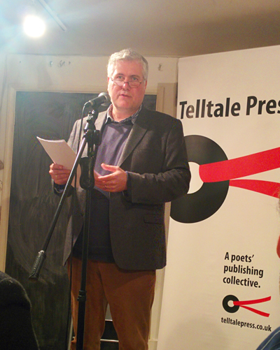 Peter Kenny reading at Telltale Press & Friends, Poetry Cafe, London, January 2016