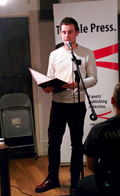 Siegfried Baber reading at Telltale Press & Friends, Poetry Cafe, London, January 2016