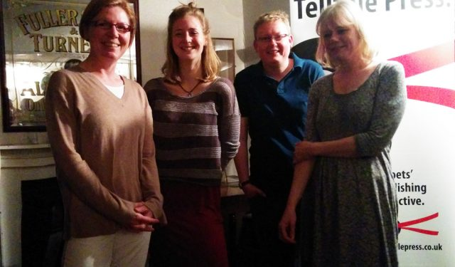 Poets reading at Telltale Press & Friends, Lewes, April 2016